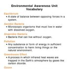 Environmental Awareness Unit Vocabulary Lesson Plan