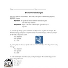 Environmental Changes Worksheet (HW)