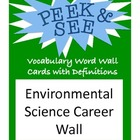 Environmental Science Careers Bulletin Board, Word Wall, E