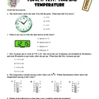 Envision Topic 17 Time and Temperature Test
