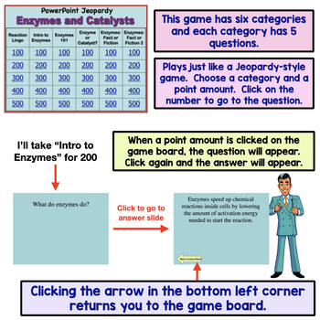 Enzymes and Catalysts Powerpoint Jeopardy Review Game
