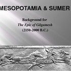 Epic of Gilgamesh Background PowerPoint &amp; Mesopotamia w/ G