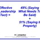 Equation Proverbs: &quot;Effective Leadership (Tact)&quot; Poster