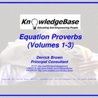 Equation Proverbs: Volumes 1-3 (Character Education Poster