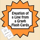 Equation of a Line from a Graph Flash Cards