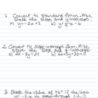 Equations of lines - worksheet 3 of 4