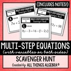 Equations Scavenger Hunt (Multi-Step with Variables on Bot