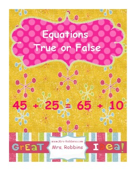 Equations, addition and subtration, equals