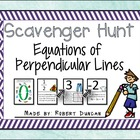 Equations of Perpendicular Lines Scavenger Hunt