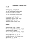 Equivalent Fraction RAP