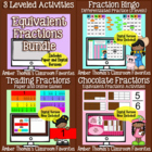 Equivalent Fractions Activities 3 in One Bundle