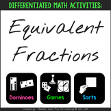 Equivalent Fractions Activities for Differentiation {Sort,
