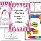 Equivalent Fractions Bundle - Common Core Aligned - MCC4.NF.1