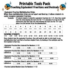 Equivalent Fractions Tool Pack (Mult. Chart Method/Bars/Nu