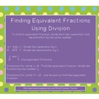 Equivalent Fractions - Using Division - Task Cards