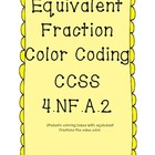 Equivalent fraction coloring page