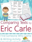 Eric Carle Author Study {Comparison & Contrast Writing and Game}