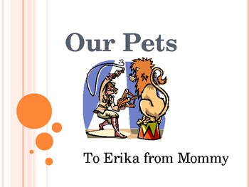 Erika's Friends and Their Pets (Pre K-Kindergarten Reading)