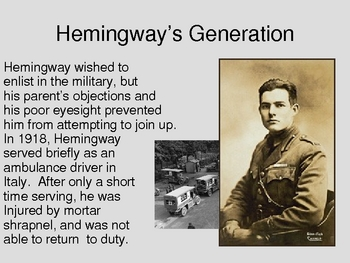 Ernest Hemingway and The Sun Also Rises Introduction PowerPoint