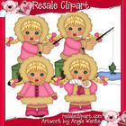 Eskimos Girls Clipart-Blonde Hair
