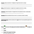 Essay Editing and Revising Made Easy Form