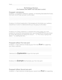 Essay Structure Guide--For Low Level Learners, or Young Writers