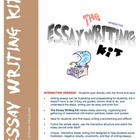 Essay Writing Kit, Help, Tips, Interactive, One Computer -