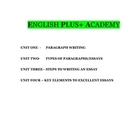 Essay Writing Package and Units