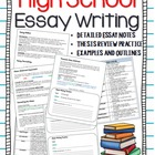 Essay Writing Unit (High School/Senior Years)