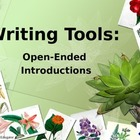 Essay Writing - Using Open-Ended Introductions PowerPoint