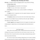 Essay Writing using Claim, Evidence, and Reasoning.