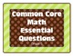 Essential Questions - Math (Grade 5, Common Core)