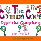 Essential Questions Posters for Pre-K/ Pre-Kindergarten Co