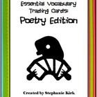 Essential Vocabulary Trading Cards Activity Bundle: Poetry