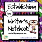 Back to School - Establishing the Writer's Notebook