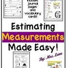 Estimating Measurements Made Easy! (Journal Pages & Vocabu