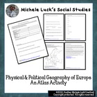 Europe Atlas Activity for Physical &amp; Political Geography