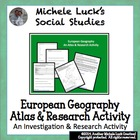 Europe Geography Introduction Atlas Activity Physical and 