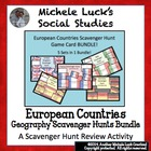 European Countries Scavenger Hunt Game Card Sets BUNDLE!