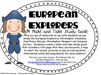 European Explorers: A Make and Take Study Guide
