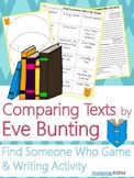 Eve Bunting Author Study {Comparison & Contrast Writing and Game}