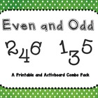 Even and Odd Printable and Activboard Combo Pack