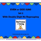 Even and Odd Sums Set 2 (Doubles as Task Cards and a Scoot Game!)