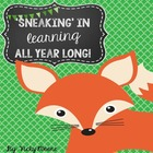 Every Minute Counts { sneaking in learning all year long }