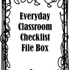 Everyday Classroom Checklists - Complete Set