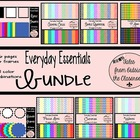 Everyday Essentials: Digital Paper & Frames Bundle