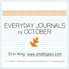 Everyday Journals for October