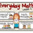 Everyday Math 2nd Grade Lesson 2.7 Fact Families