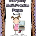 Everyday Math Practice Pages Bundle (Sets 1-4)