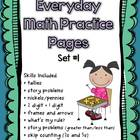 Everyday Math Practice Pages Set #1